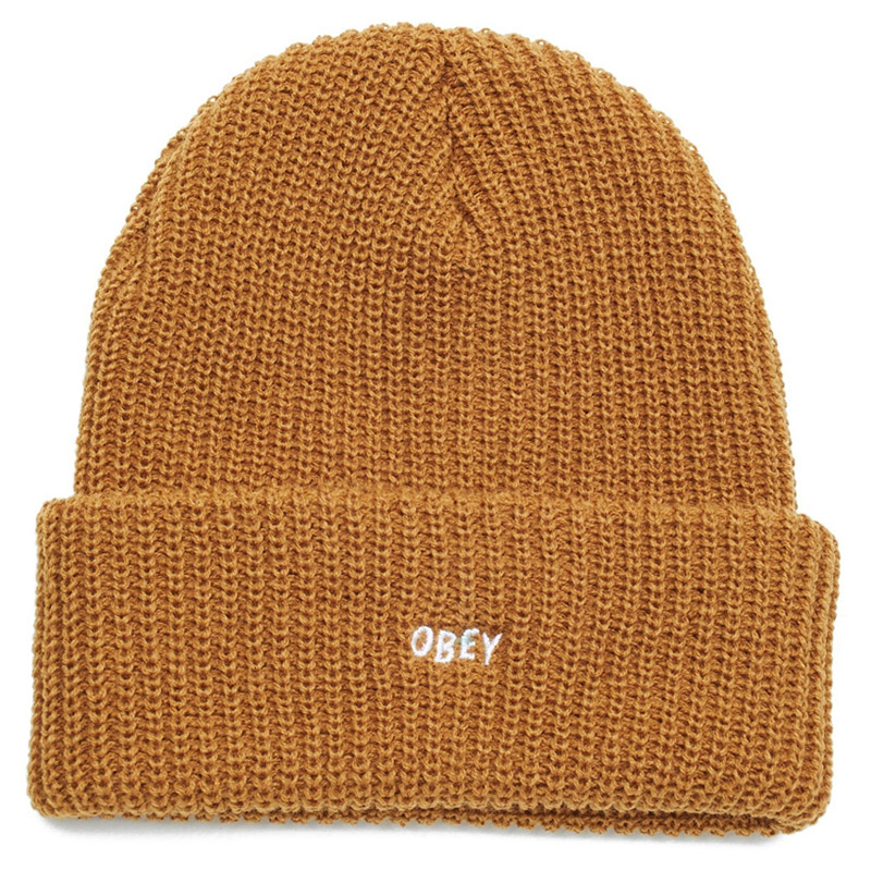 Obey Jumbled Beanie Tapenade