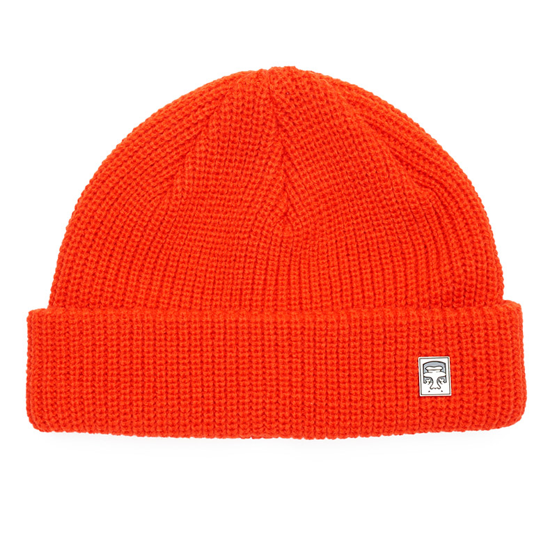 Obey Micro Beanie Brunt Red