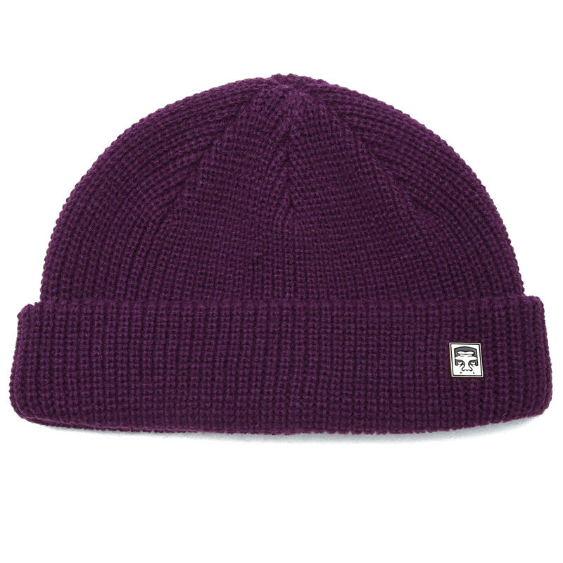 Obey Micro Beanie Purple