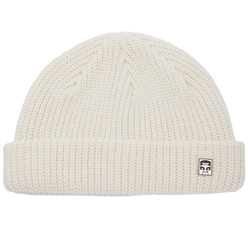 Obey Micro Beanie Unbleached