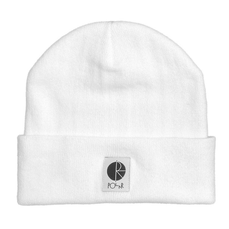 Polar Fill Logo Beanie White/Black