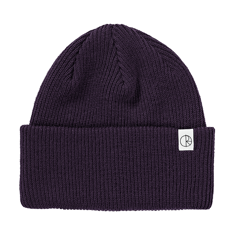 Polar Merino Wool Beanie Dark Purple