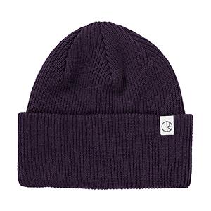 Polar Merino Wool Beanie Dark Purple