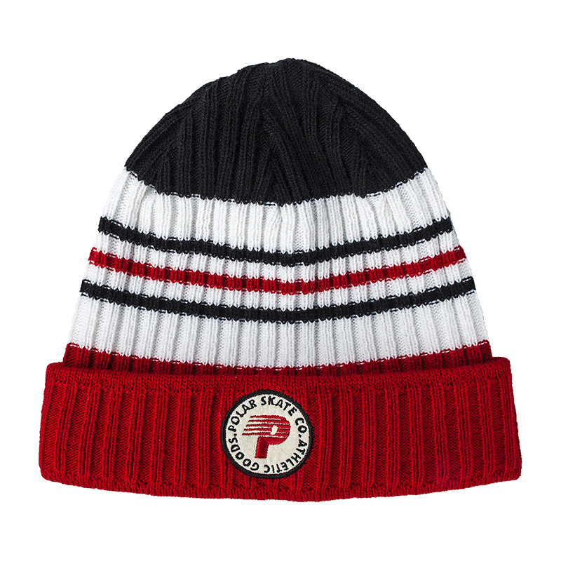 Polar Stripe Beanie Red