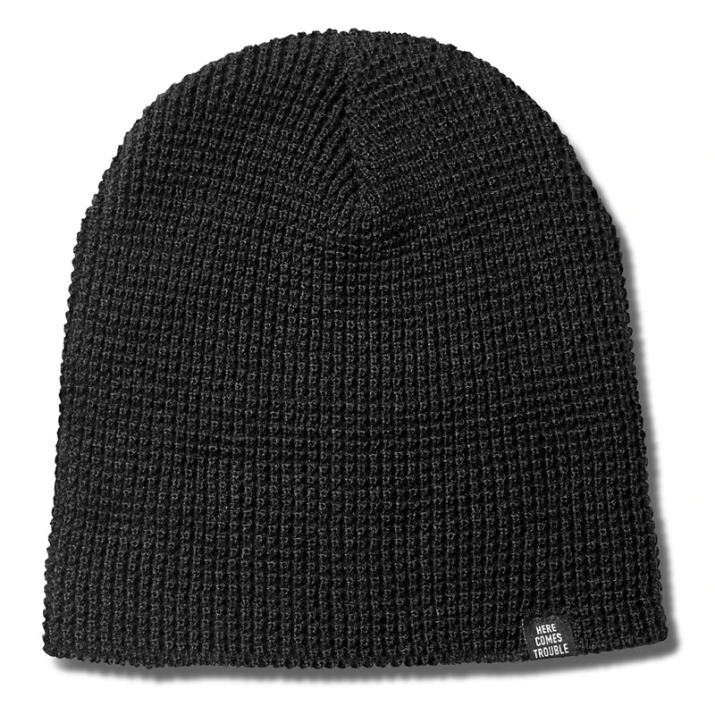 Primitive Dirty P Waffle Two-Fer Beanie Black