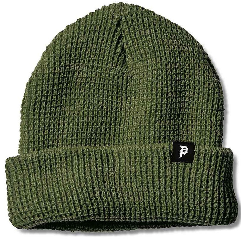Primitive Dirty P Waffle Two-Fer Beanie Olive