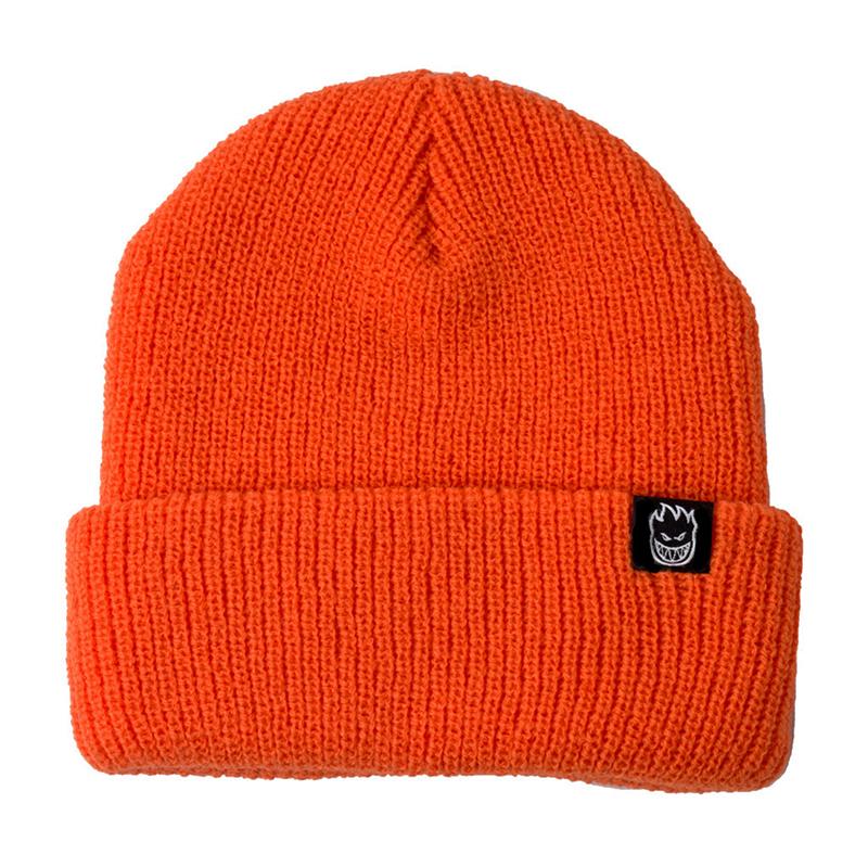 Spitfire Bighead Clip Label Cuff Beanie Cuff Beanie Orange