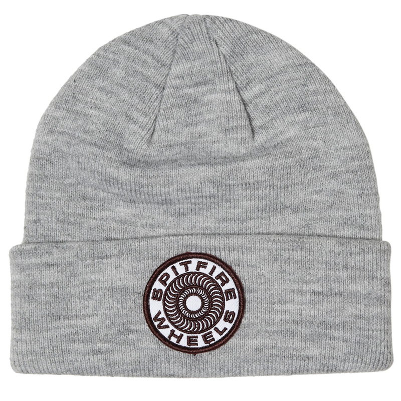 Spitfire Classic 87' Swirl Cuff Beanie Grey Heather/White/Burgundy