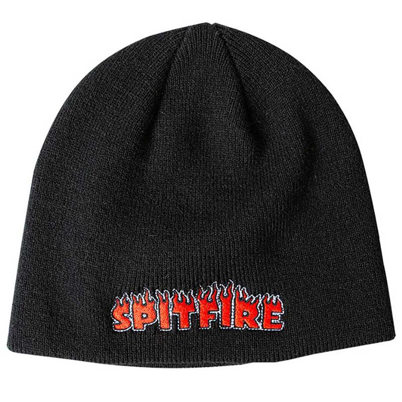 Spitfire Flash Fire Skully Beanie Black