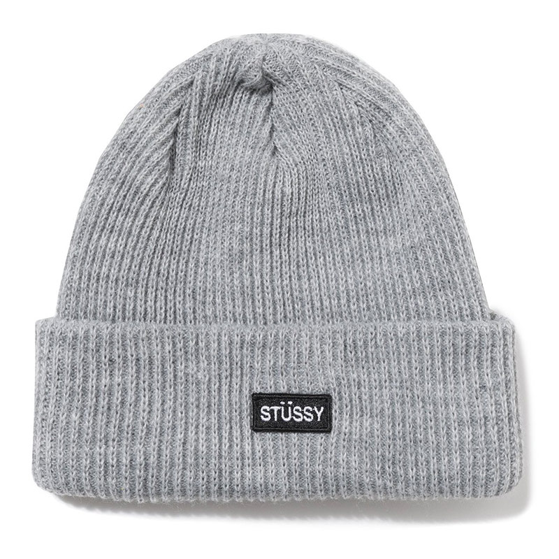 Stussy Small Patch Watch Cap Beanie Grey Heather