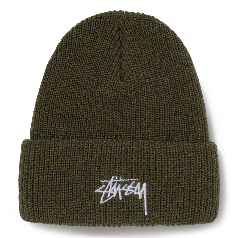 Stussy Stock Cuff Beanie Army Green