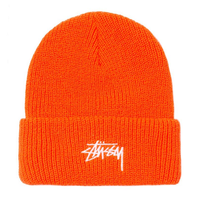 Stussy Stock Cuff Beanie Orange