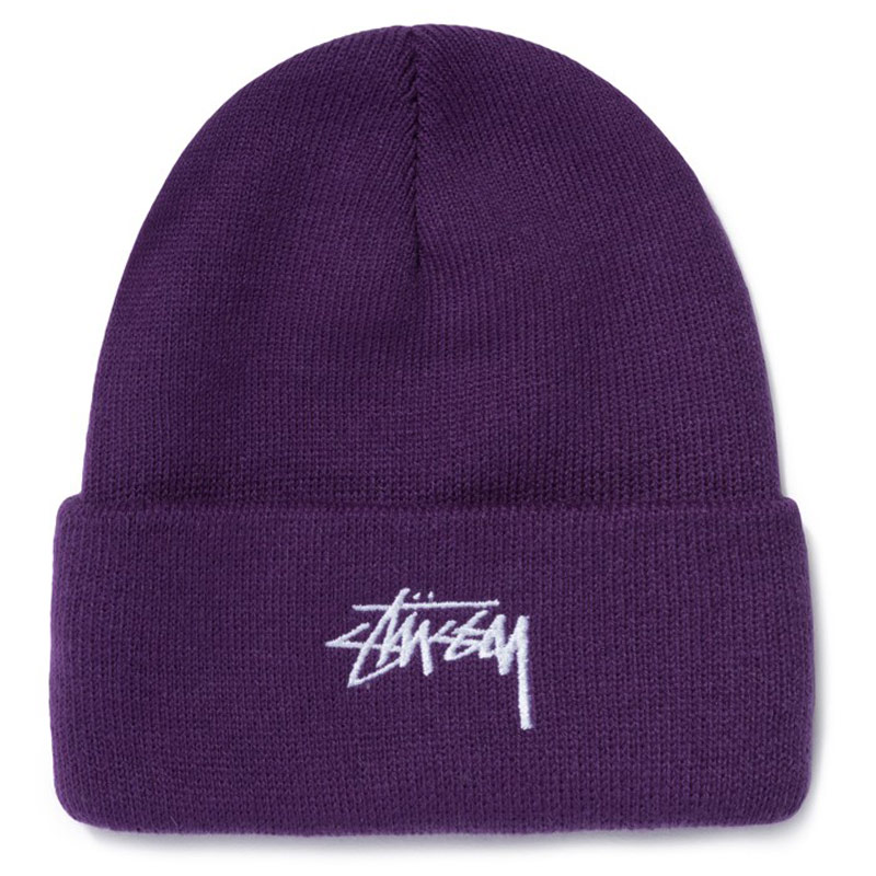 Stussy Stock Cuff Beanie Purple