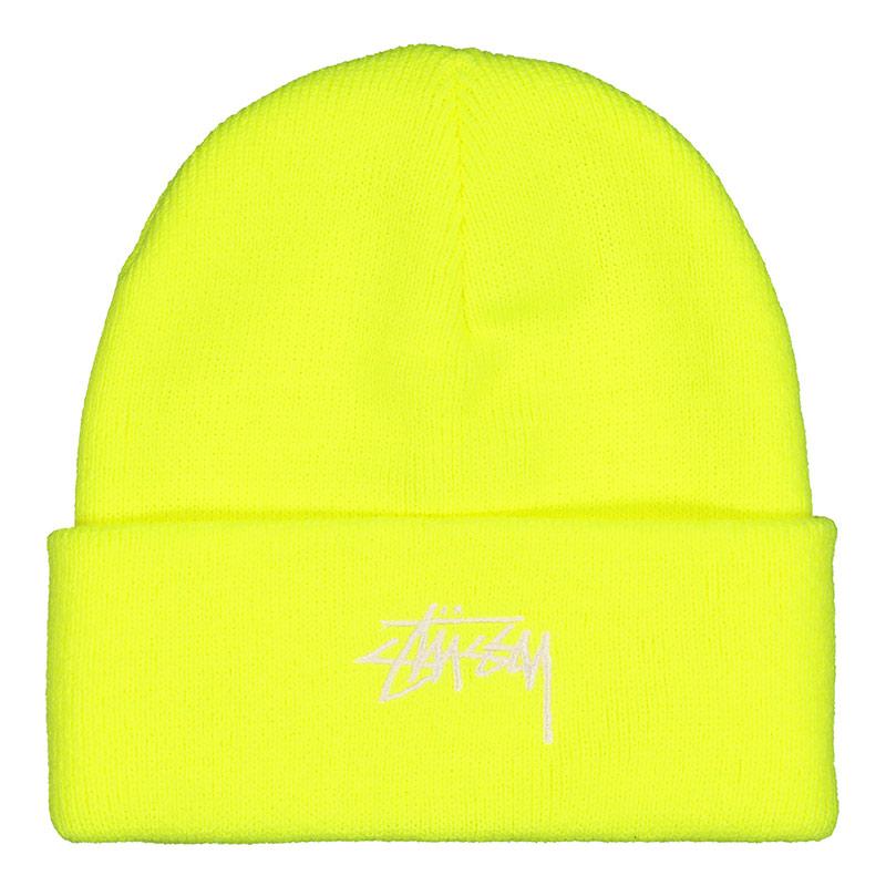 Stussy Stock Cuff Beanie Safety Yellow