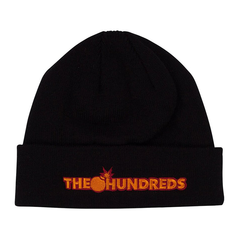 The Hundreds Bar Logo Beanie Black