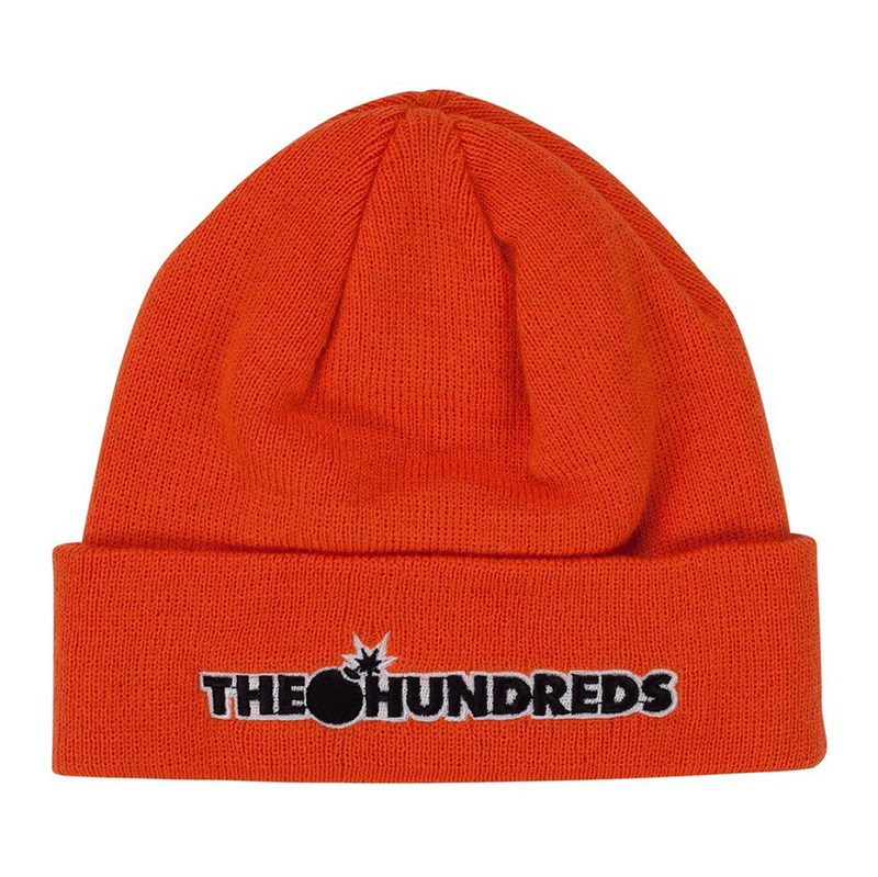The Hundreds Bar Logo Beanie Orange