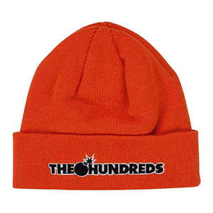 The Hundreds Bar Logo Beanie Orange