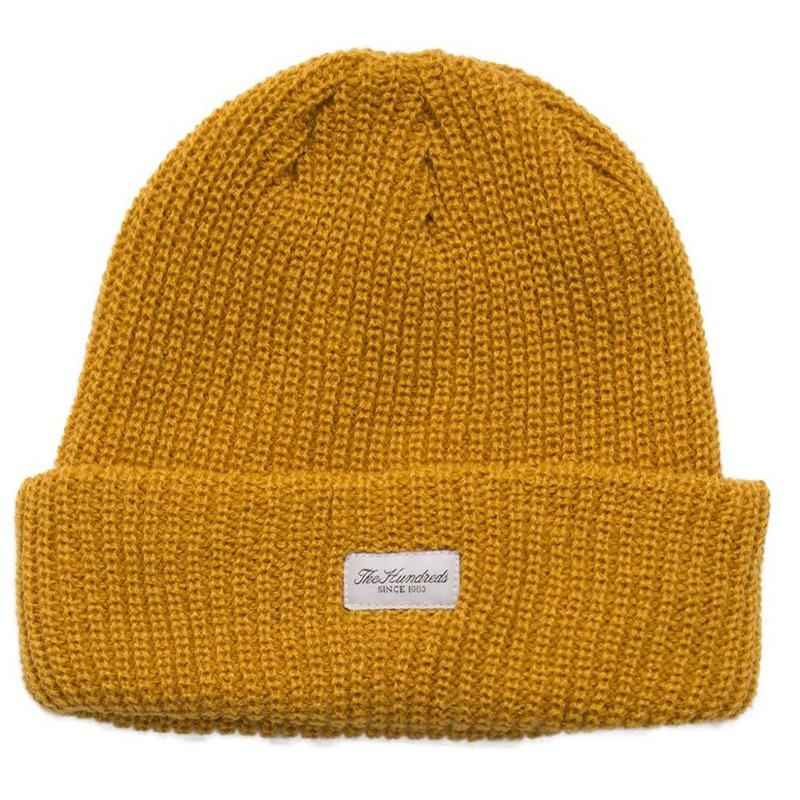 The Hundreds Crisp 2 Beanie Mustard