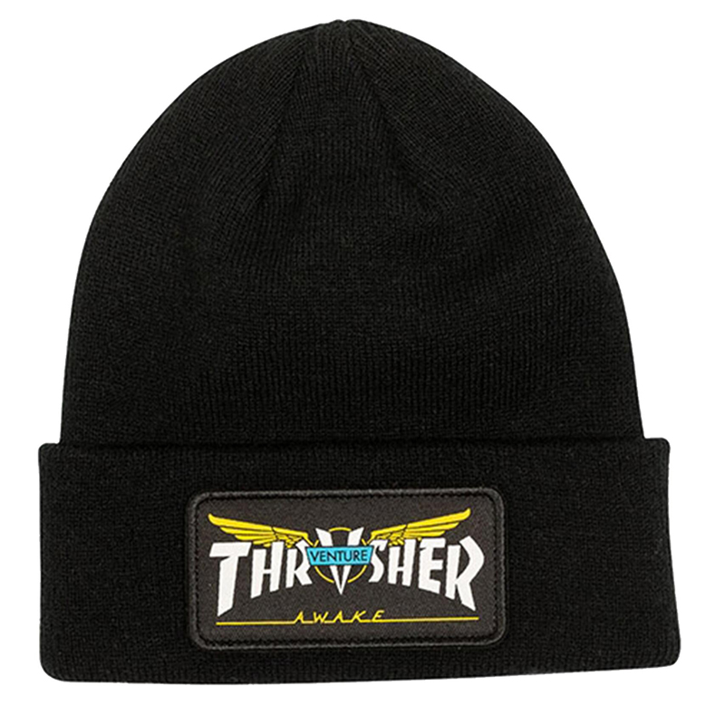 Thrasher x Venture Patch Beanie Black