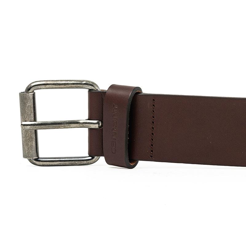 Carhartt Script Belt Dark Brown/Silver Inoxsilver Inox Buckle