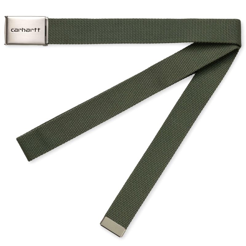 Carhartt WIP Clip Chrome Belt Dollar Green