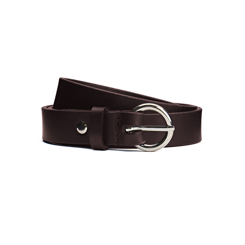 Polar Ring Belt Brown Leather