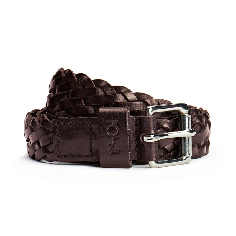 Polar Slim Woven Belt Brown 105cm