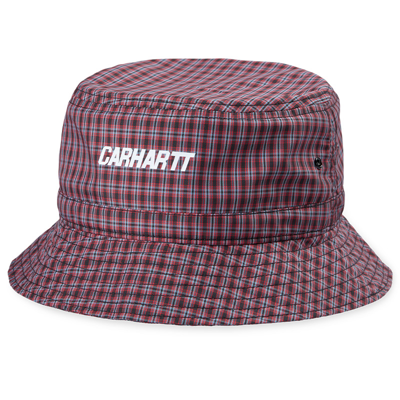 Carhartt WIP Alistair Bucket Hat Alistair Check/ Black/Etna Red Check