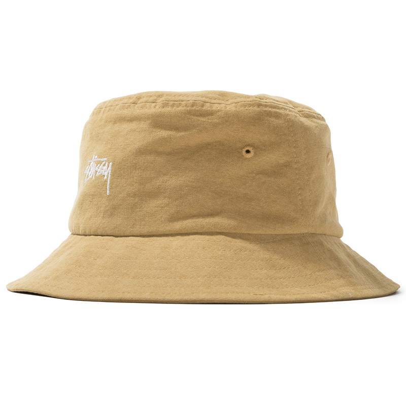 Stussy Stock Canvas Bucket Hat Yellow