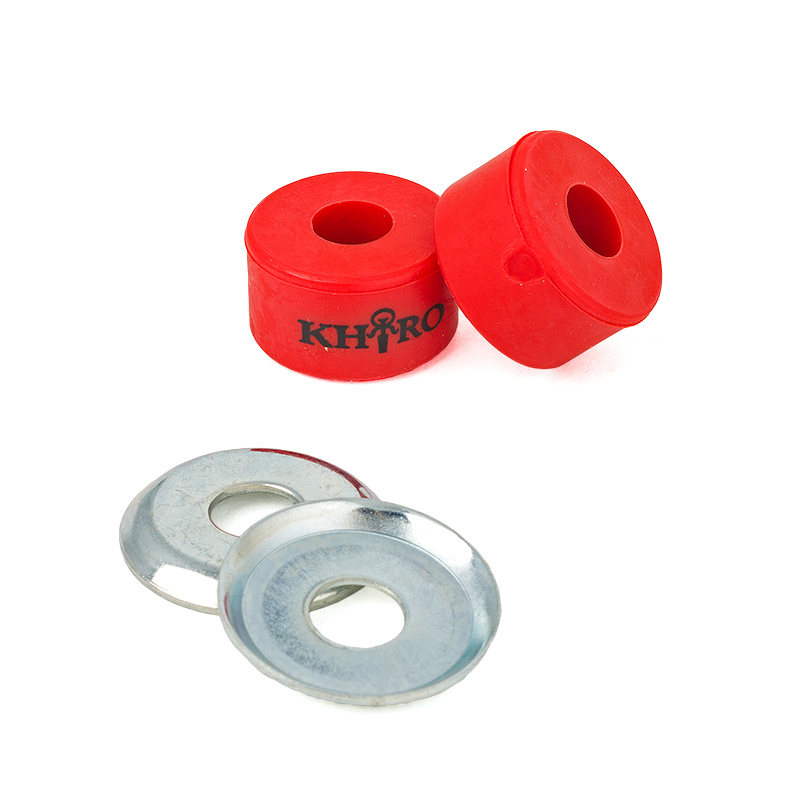 Khiro Double Barrel Bushings with Cup Washers Red 90A