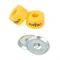 Khiro Double Barrel Bushings with Cup Washers Yellow 92A