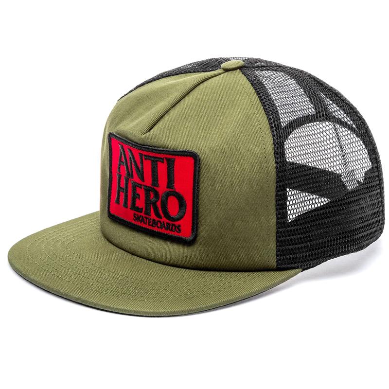 Anti Hero Reserve Patch Snapback Cap Olive/Black
