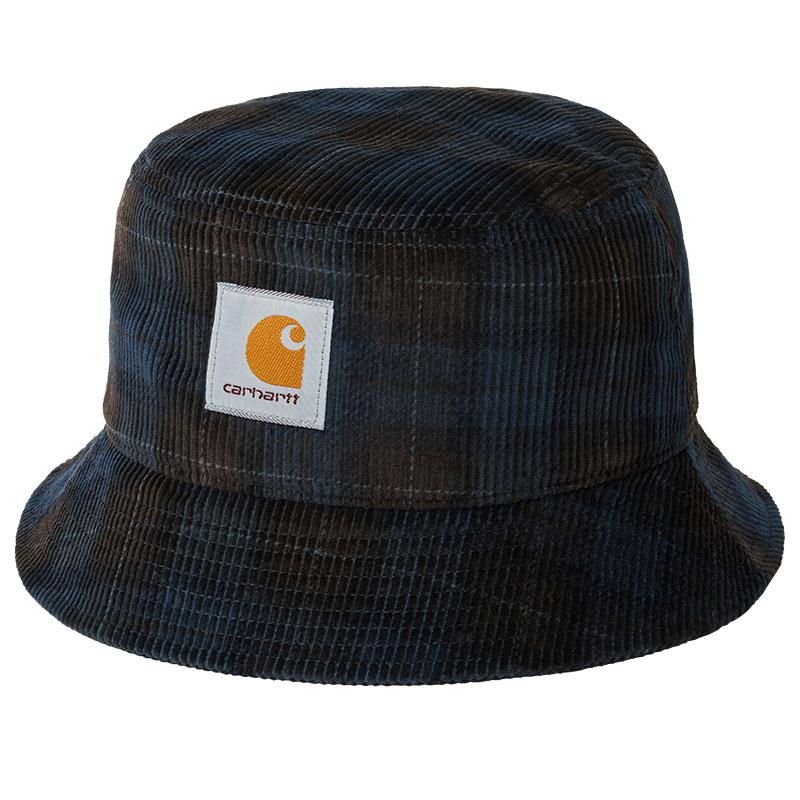 Carhartt WIP Cord Bucket Hat Breck Check Print Tobacco