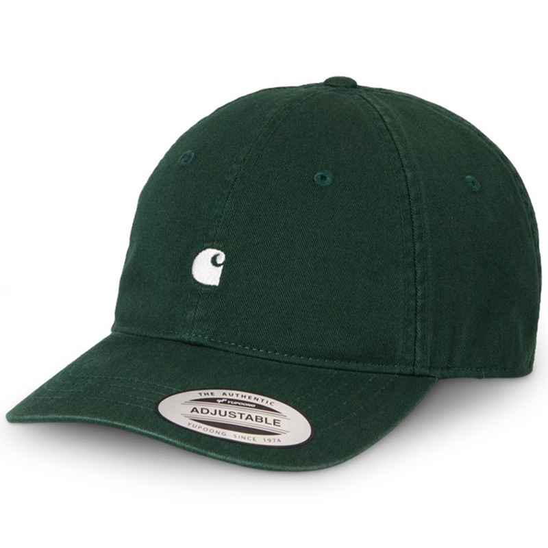 Carhartt WIP Madison Logo Cap Bottle Green/Wax