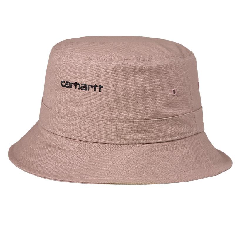Carhartt WIP Script Bucket Hat Earthy Pink/Black