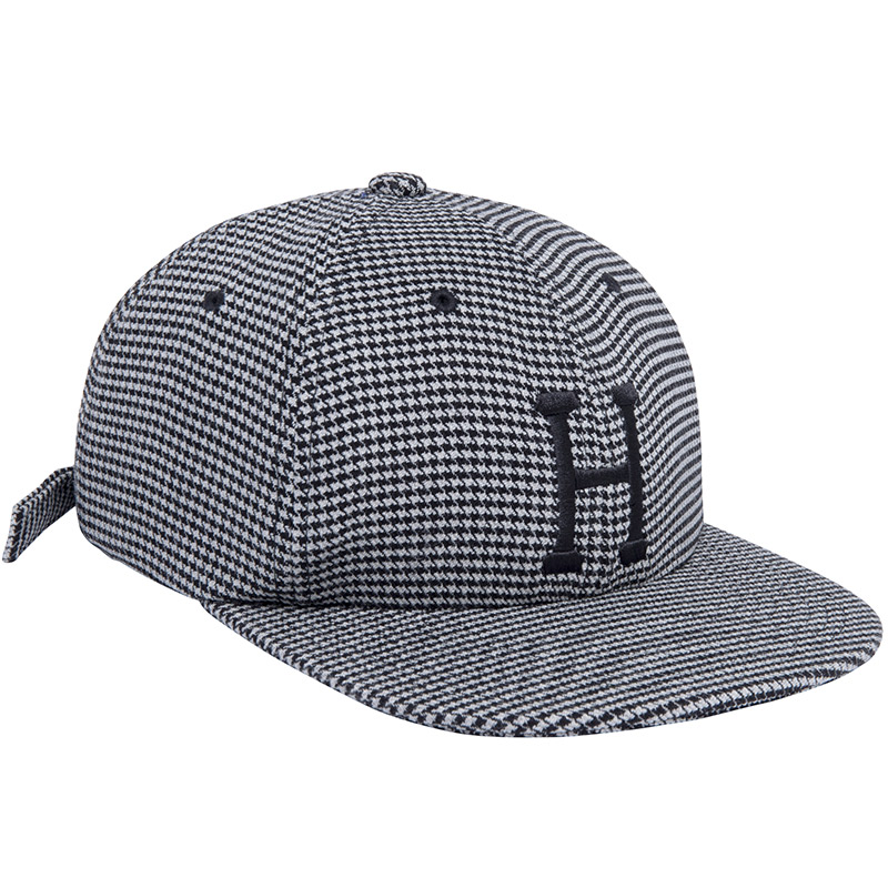 HUF Classic H Houndstooth 6 Panel Hat Black