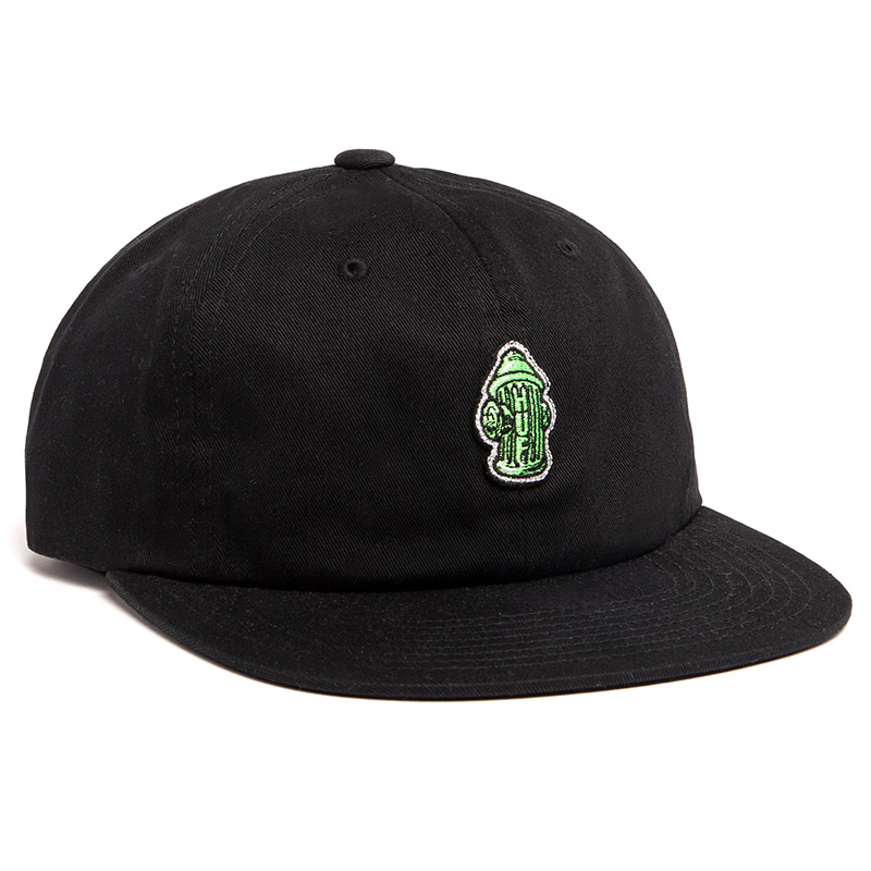 HUF Hydrant Unstructed 6 Panel Cap Black
