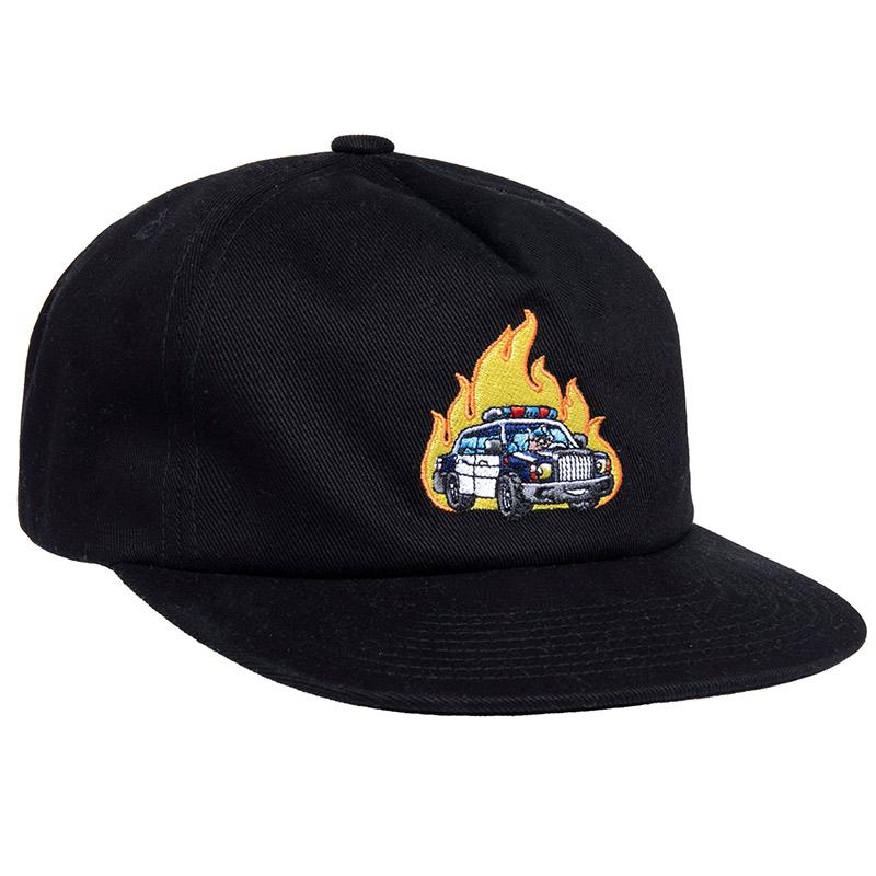 HUF Roasted Unstructured Snapback Cap Black