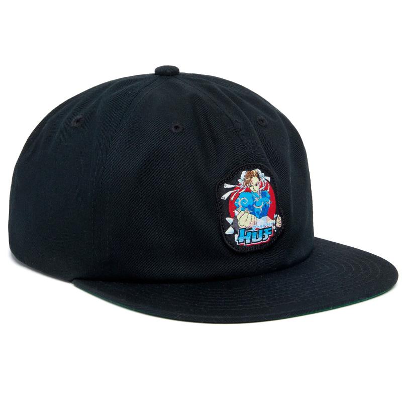 HUF X Streetfighter Chun-Li Snapback Hat Black