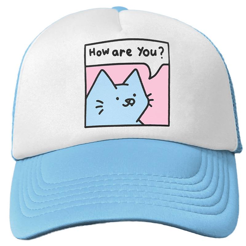 Leon Karssen Bff Trucker Hat Set Light Blue White Light Pink