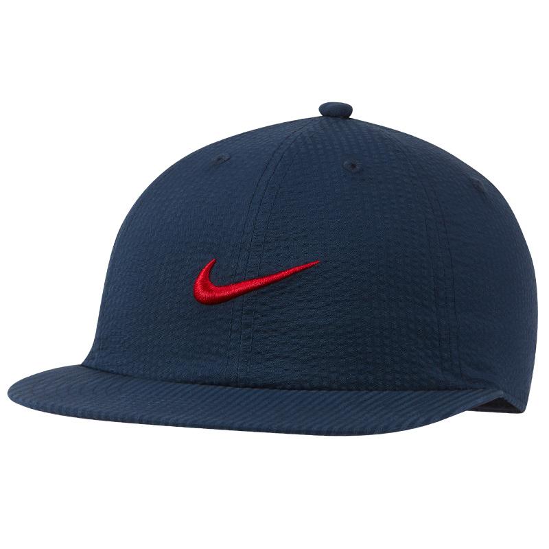 Nike H86 Seersucker Flatbill Cap Midnight Navy/University Red