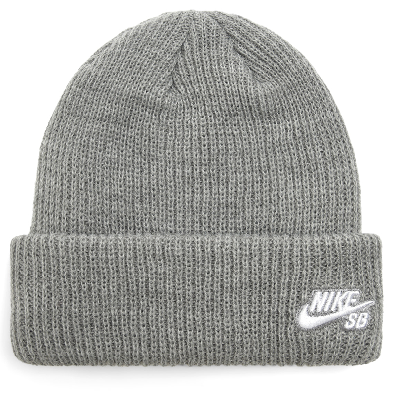 Nike SB Fisherman Beanie Dark Grey Heather/White