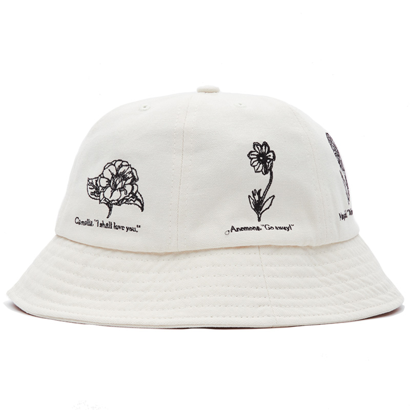 Obey Language Of Flowers Bucket Hat Natural