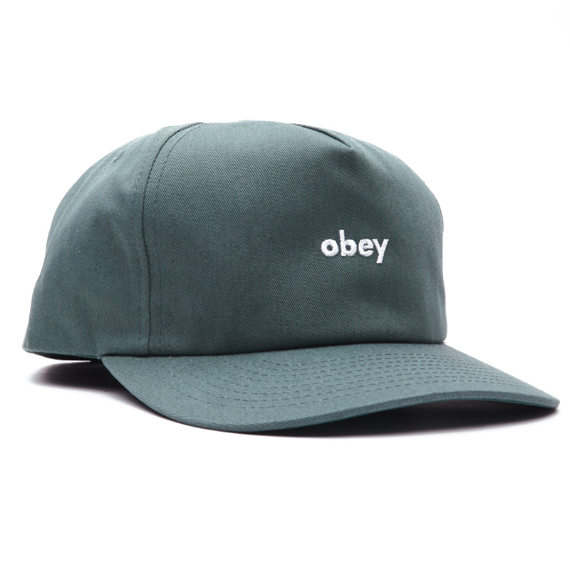 Obey Lowercase Snapback Cap Leaf