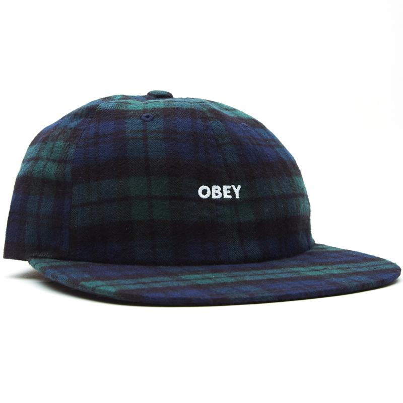 Obey Rhye 6 Panel Strapback Cap Black Multi