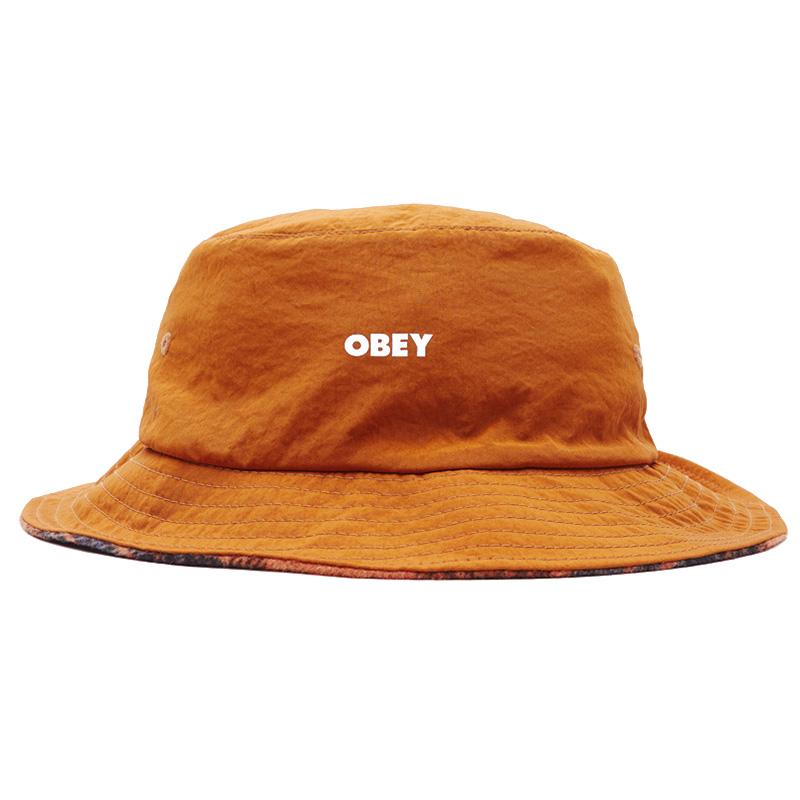 Obey Sam Reversible Bucket Hat Chili/Chili Multi