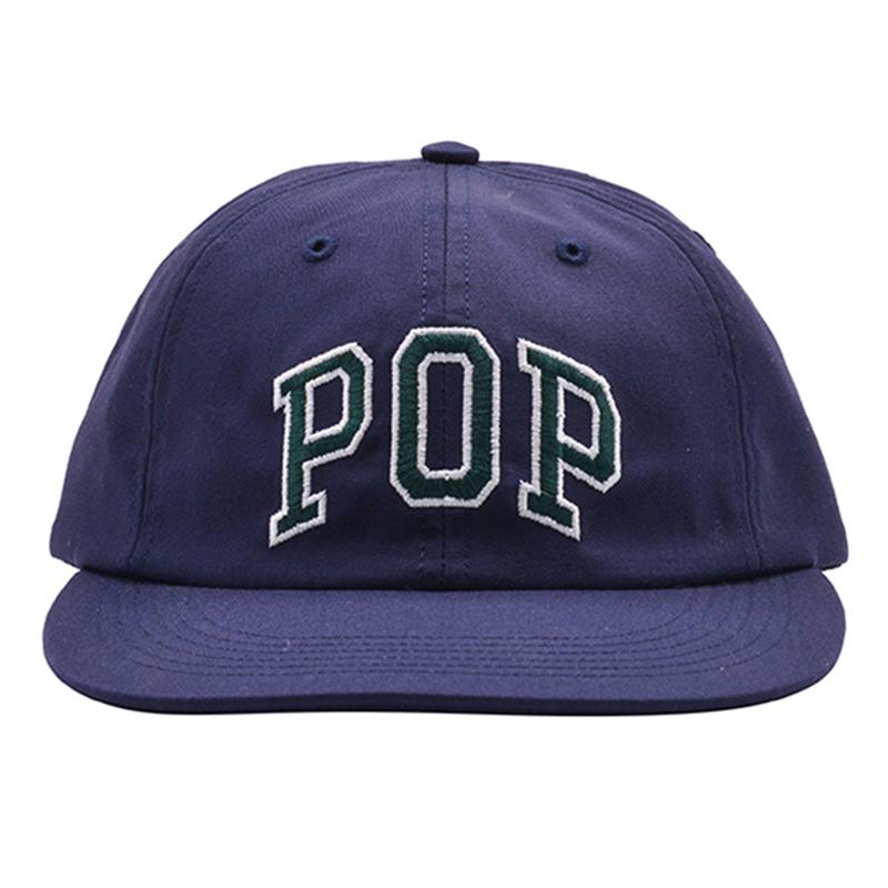 Pop Trading Company Arch Logo 6 Panel Hat Navy