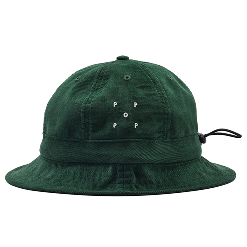 Pop Trading Company Bell Hat Dark Green Minicord