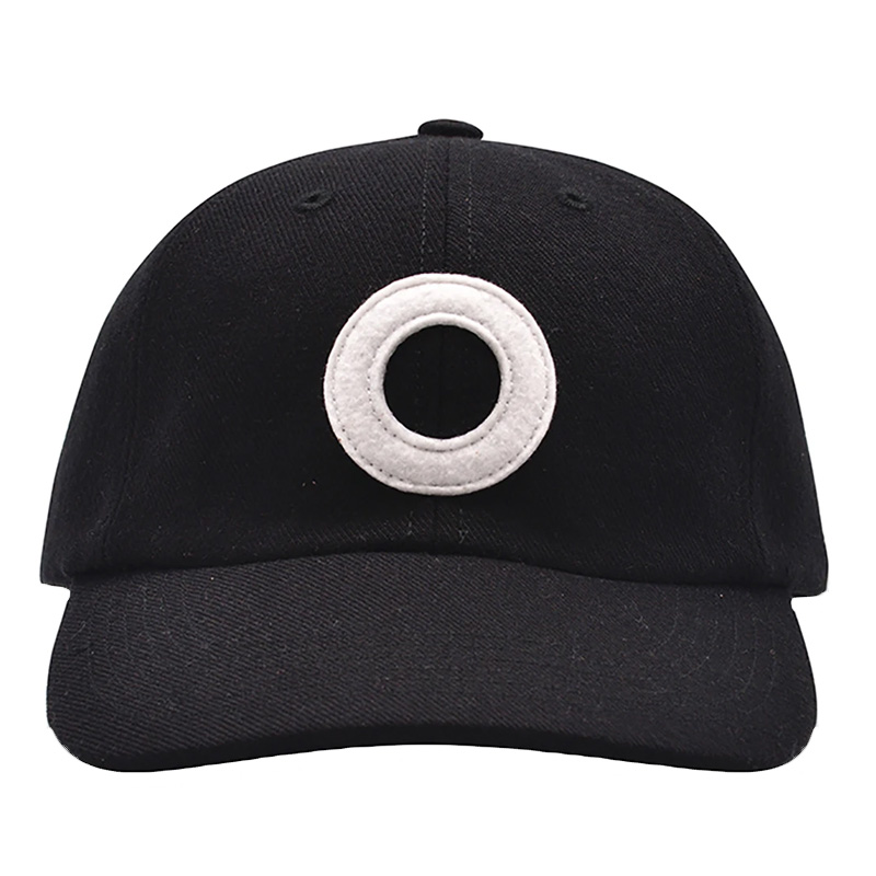 Pop Trading Company O 6 Panel Hat Black/White