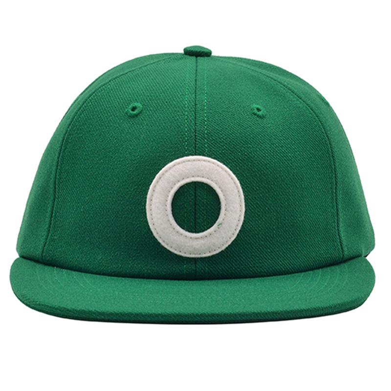 Pop Trading Company O 6 Panel Hat Dark Green White